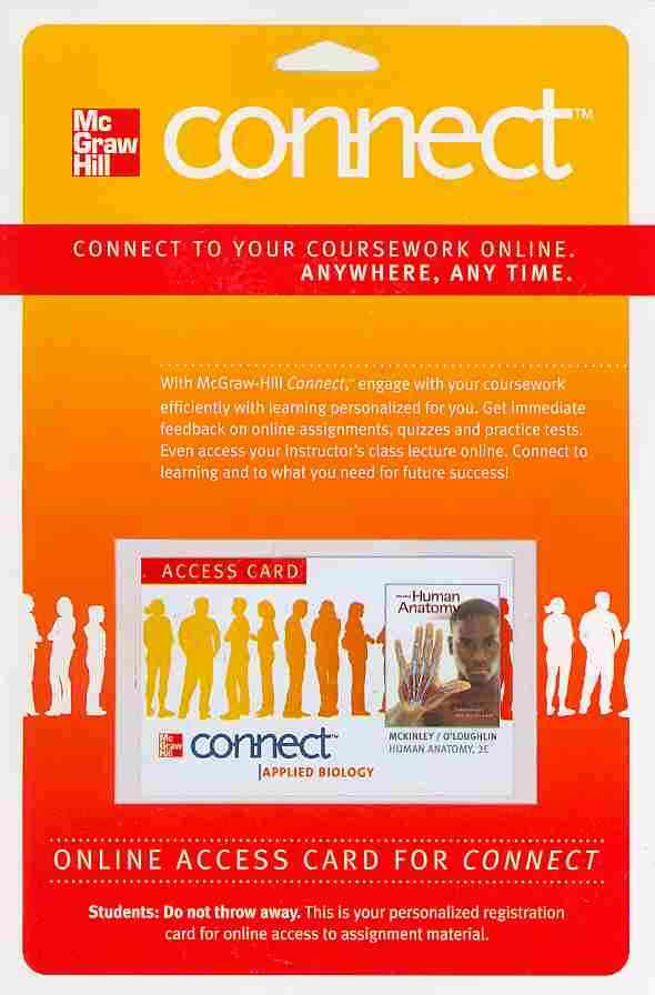 McGraw-Hill Science/Engineering/Math Connect Human Anatomy Access Card (Includes Apr & Phils Online) (3rd Edition) by McKinley, Michael/ O'Loughlin, Valerie [Digital at Sears.com